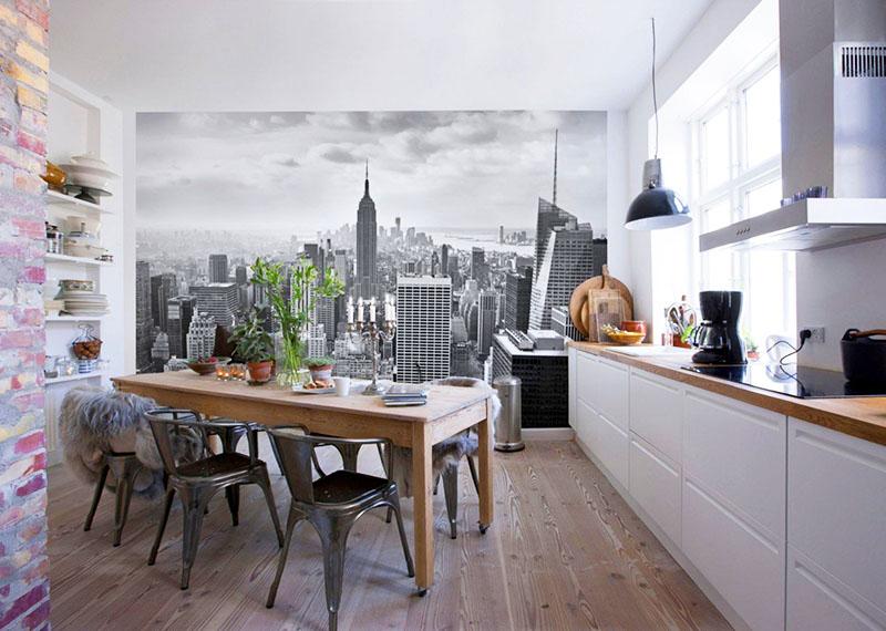 Перспективное изображение сделает кухню визуально просторнее