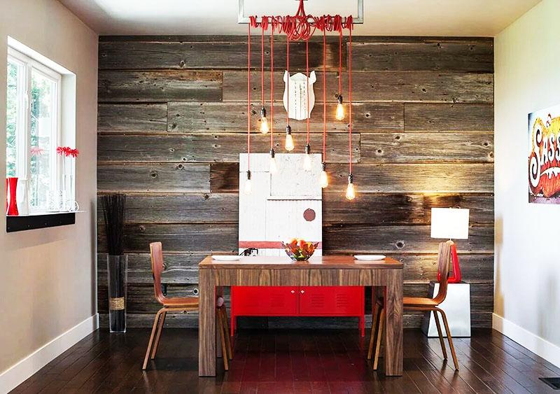 Использование ламината для декорирования стены