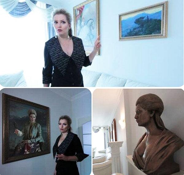 Лена Ленина с удовольствием рассказывает историю создания и приобретения каждого экспоната