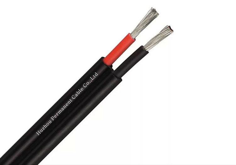 В сетях постоянного тока жилы могут быть красного и чёрного цвета