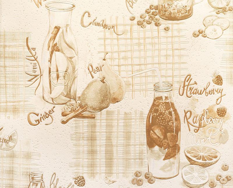 Виниловые обои для кухни, расцветка «Фруточино»