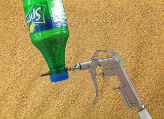 Пескоструй из бутылки