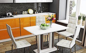 Размер кухонного стола: как определиться