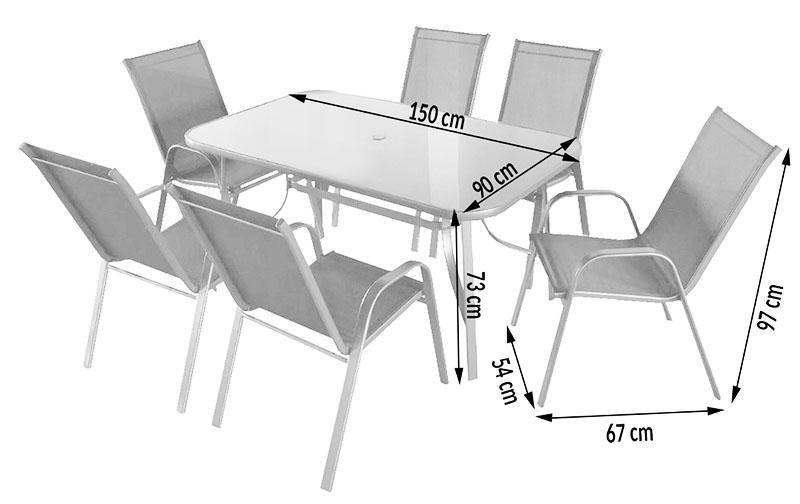 Стандартные размеры прямоугольного стола на 6 персон