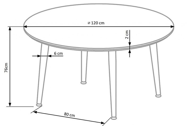 Стандартные размеры круглого стола для кухни