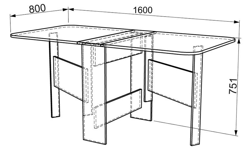 Основные параметры популярного стола-книжки
