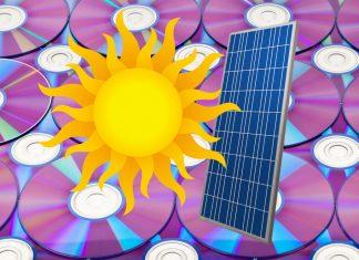 Солнечная панель из СD