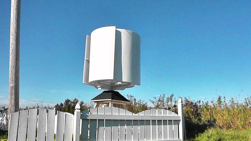 А вот так выглядит горизонтальный ветряной генератор
