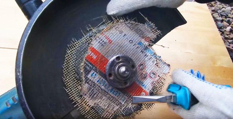 Разрушение диска поможет раскрутить зажимной фланец