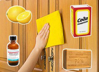 Как убрать жир с кухонной мебели подручными средствами
