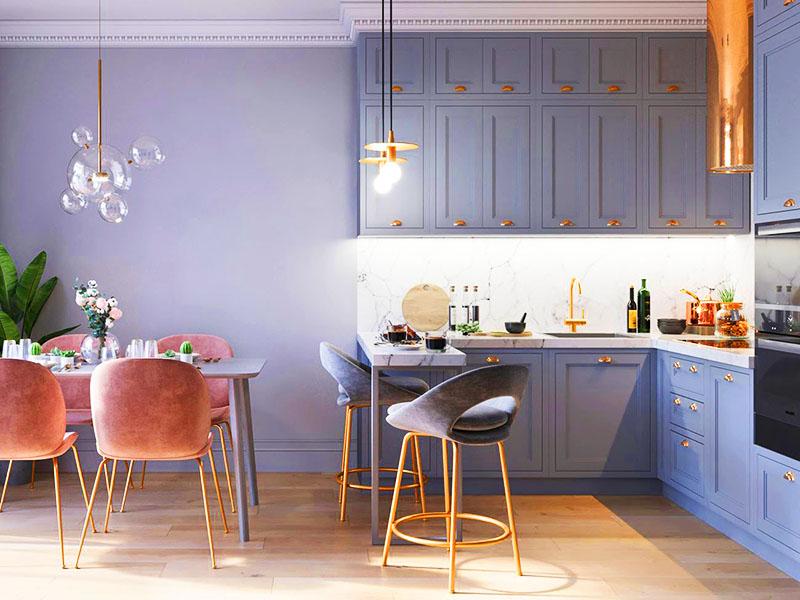 Вы можете выкрасить серым цветом не только стены, но и мебель, чтобы получить красивый интерьер. Это не только стильный вариант оформления, но и способ экономии – возможность использовать оставшиеся банки краски и не покупать новые