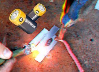 Необычное применение старой батарейки