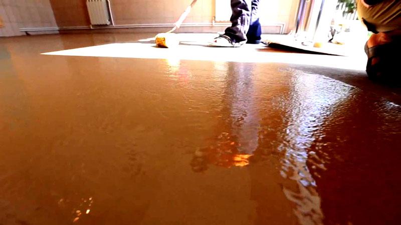 Покрытие бетонного пола жидким стеклом