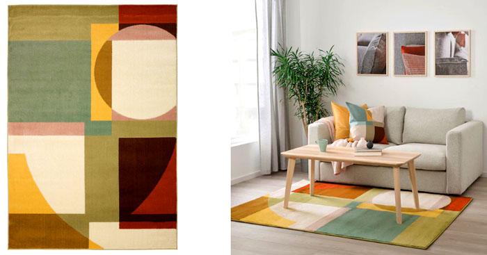 Можно использовать в детской комнате, ковёр выполнен из гипоаллергенных волокон