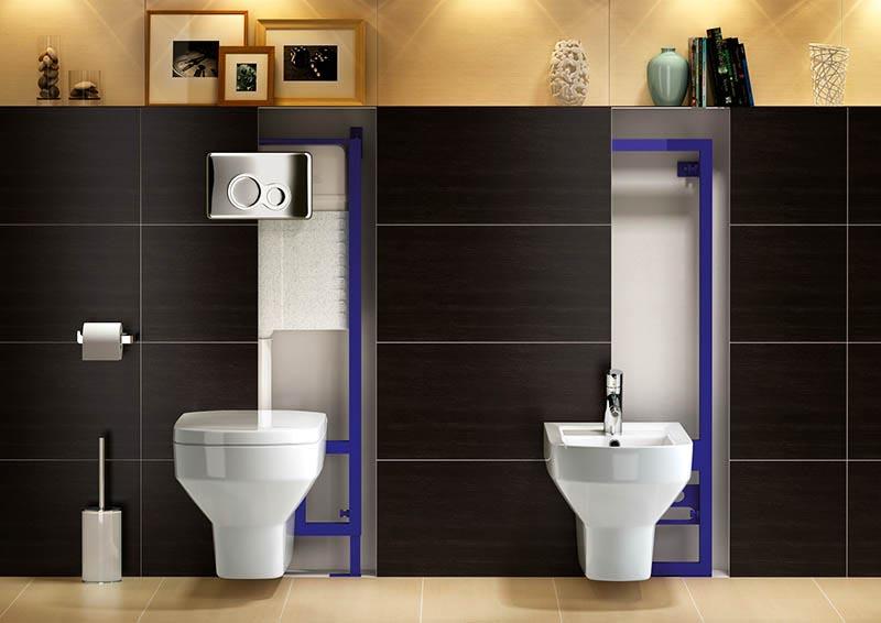 Подвесные конструкции лучше устанавливать в нишу на этапе планировки ванной комнаты