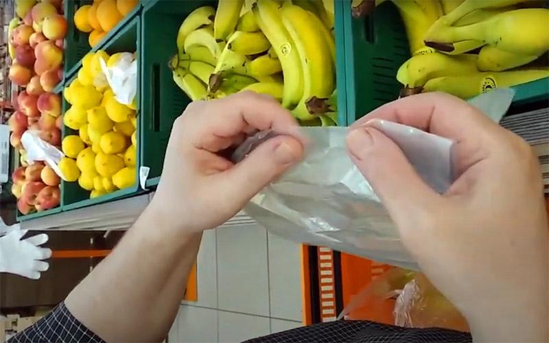 Как за несколько секунд раскрыть новый пластиковый пакет