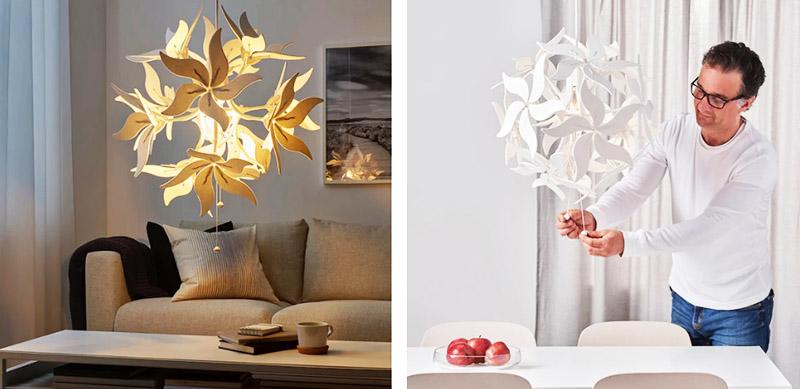 При включении лампа образует декоративные орнаменты на стенах и потолке