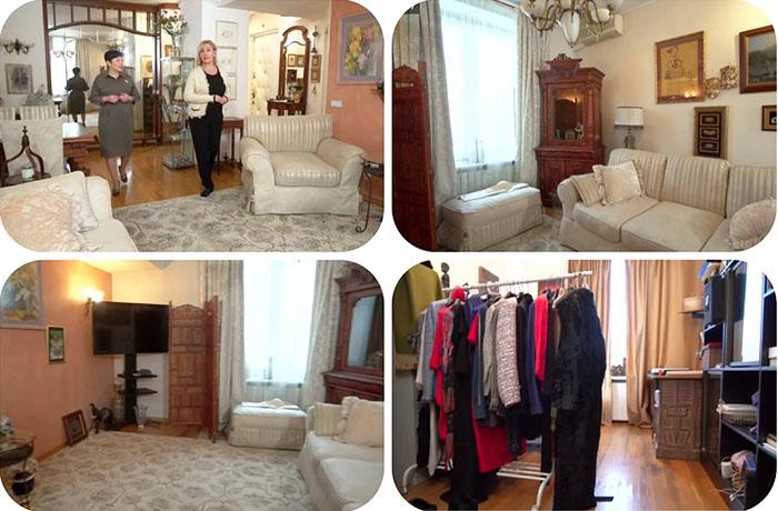 Гостиная до ремонта была оформлена в традиционном классическом стиле
