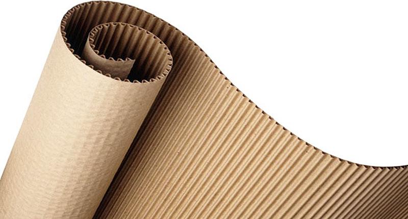 Гофрированный картон можно взять от любой коробки, желательно не глянцевой
