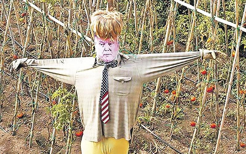 А ещё в изготовлении отпугивающих скульптур на огороде вы можете выразить свои политические взгляды или отношение к вышестоящему руководству. Это может быть своего рода психотерапия, которая поднимет ваше настроение и самооценку