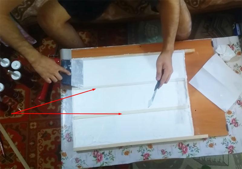 Рейки помогут сделать форму более эластичной
