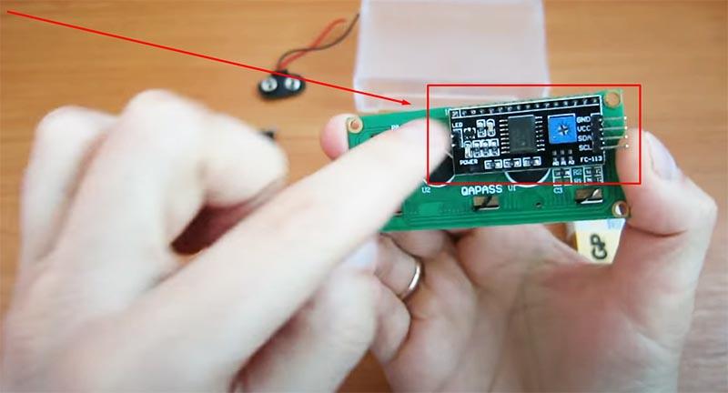I2C модуль для arduino – здесь он уже впаян на место и готов к работе