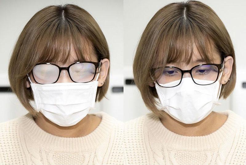 Правильное положение очков и маски