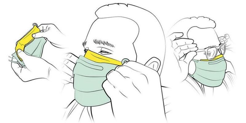 Приклеивание края маски