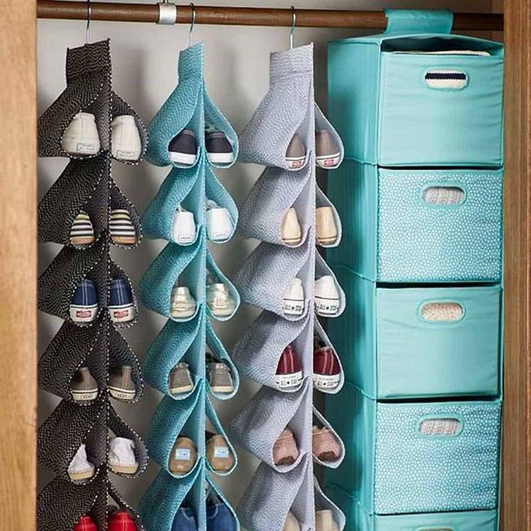 Такой органайзер для обуви можно купить или сделать самостоятельно
