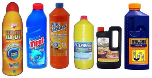 Средства для промывки труб и удаления запахов