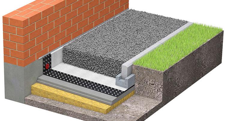 При необходимости можно под мембрану уложить теплоизолирующий материал, чтобы минимизировать промерзание грунта у фундамента