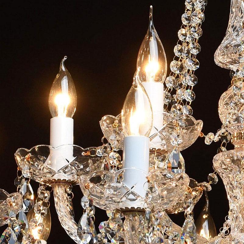 Ещё один плюс таких ламп, который как раз позволяет ему справляться с хрустальным плафоном – это 360° светорассеивания