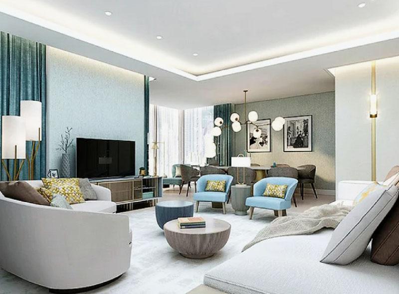 Мягкую группу украшают декоративные подушки в основной цветовой гамме интерьера
