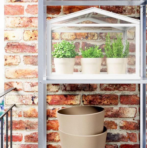 Миниатюрная теплица для зимнего сада