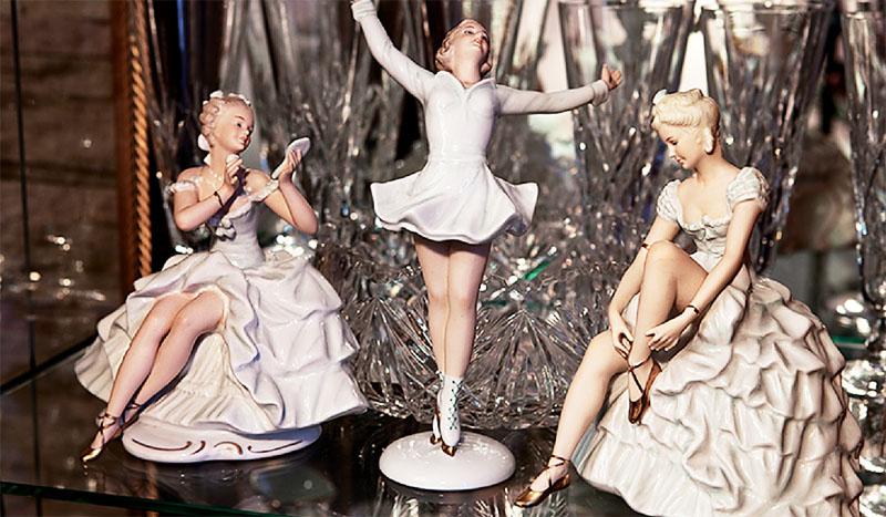 В коллекции Ольги Погодиной есть изящное трио фарфоровых балерин