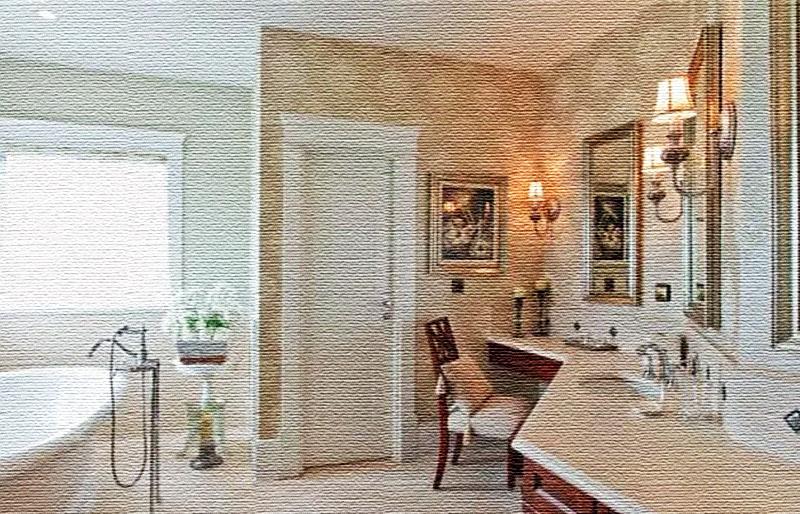 Окно украсили римской шторой из светлой хлопчатобумажной ткани