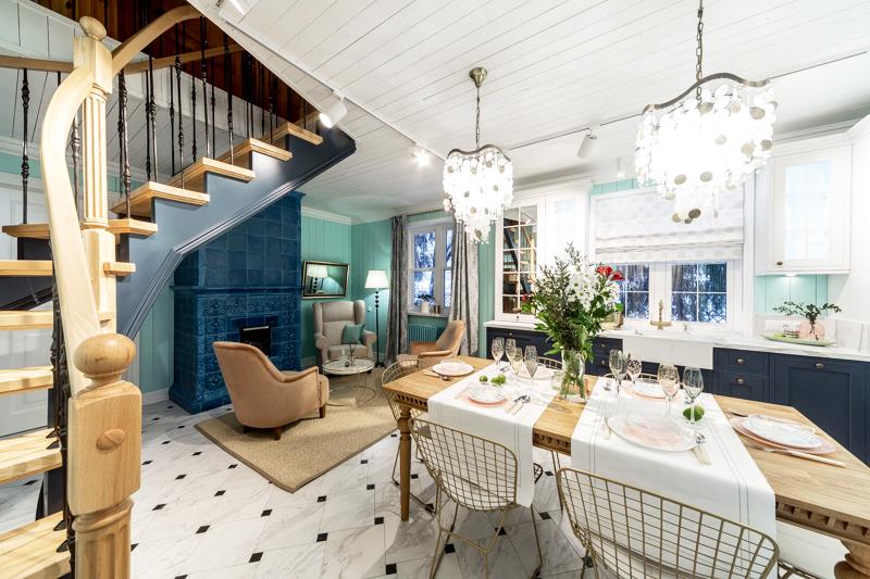 Идеальное переоформление кухни-столовой в доме чемпионки мира по лёгкой атлетике Иоланды Чен