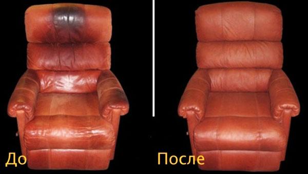 Обновление кожаного кресла