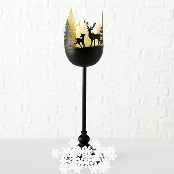 Вариант подсвечника со свечой внутри бокала