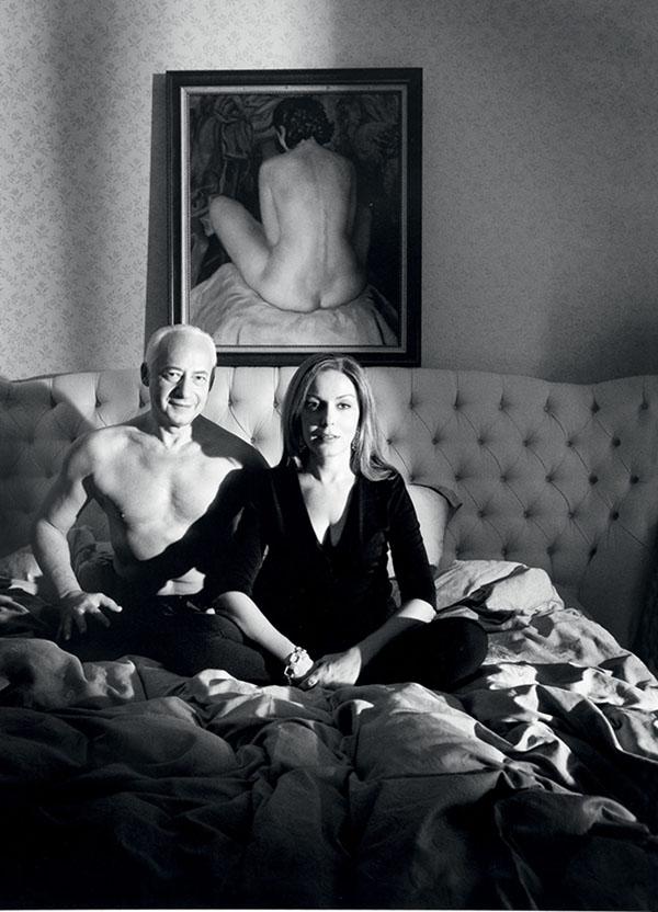 Сати Спивакова назвала фотографию мастера Gilles Bensimon в спальне двойным портретом
