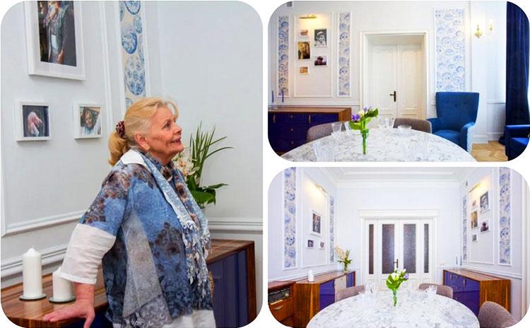Стены украшают памятные фото актрисы с эффектной подсветкой