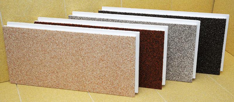 Экономвариант – гибкий камень, представляющий собой молотый камень или кварцевый песок, прессованный и склеенный акриловым полимером. Чтобы на шероховатой поверхности не оседала грязь и пыль, поверхность панелей покрыта гидрофобизатором