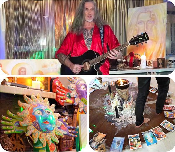 С недавних пор Никита Джигурда увлекается оккультизмом, поэтому вся квартира украшена декоративными свечами