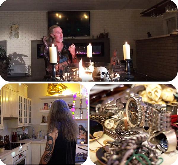 У скандального актёра есть целая коллекция бижутерии на тему оккультизма