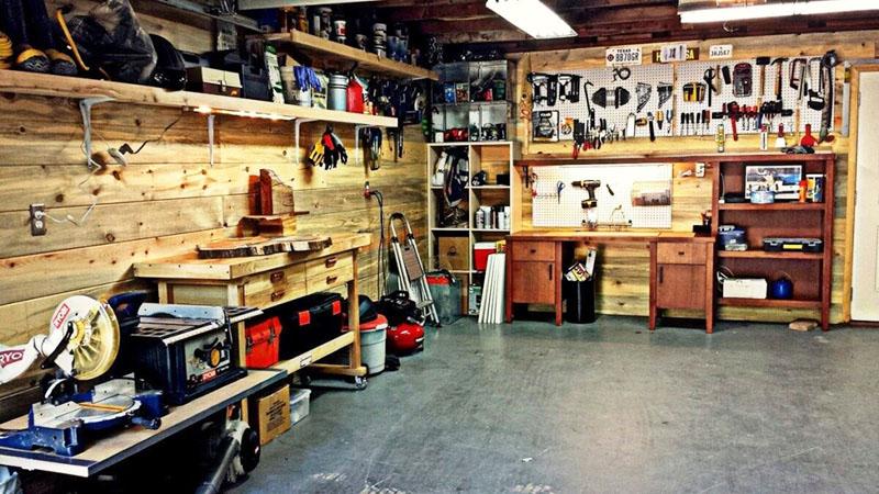 Размещение имущества в гараже