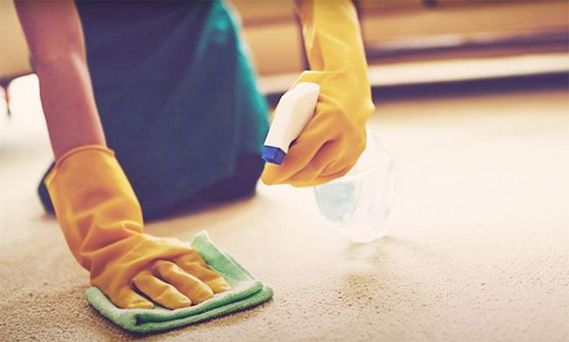 Потом оставьте влажное полотенце на ковре ещё на некоторое время и после причешите той же вилкой