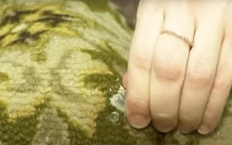 По возможности удалите воск с поверхности руками