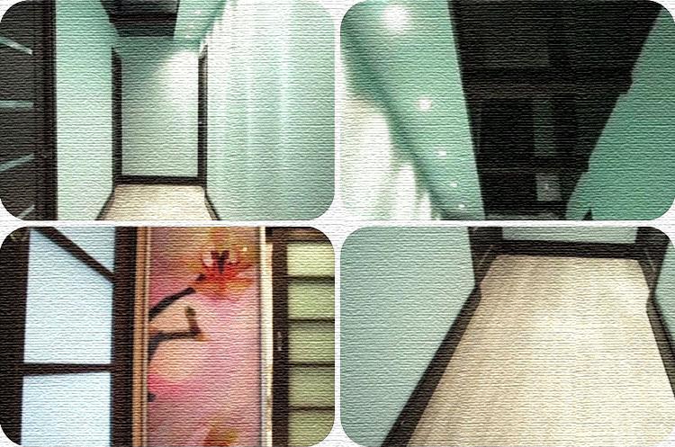 В прихожей поставили шкаф-купе, одна дверца которого зеркальная, вторая ‒ украшена цветочным узором