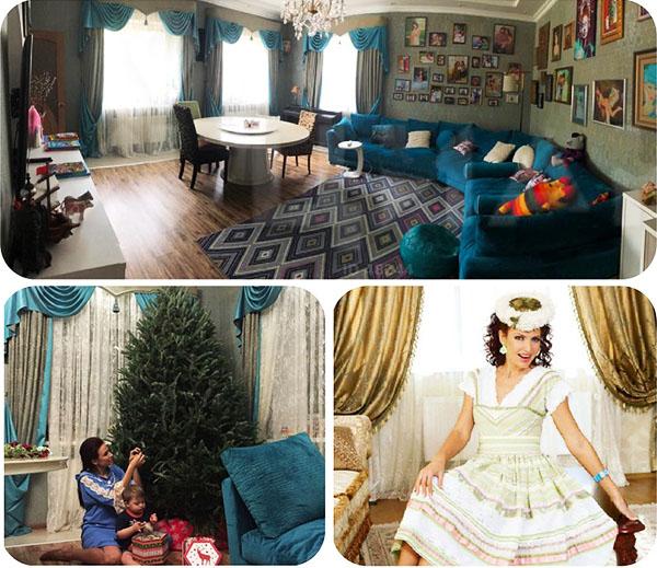 Все стены мини-гостиной украшены памятными семейными фотографиями
