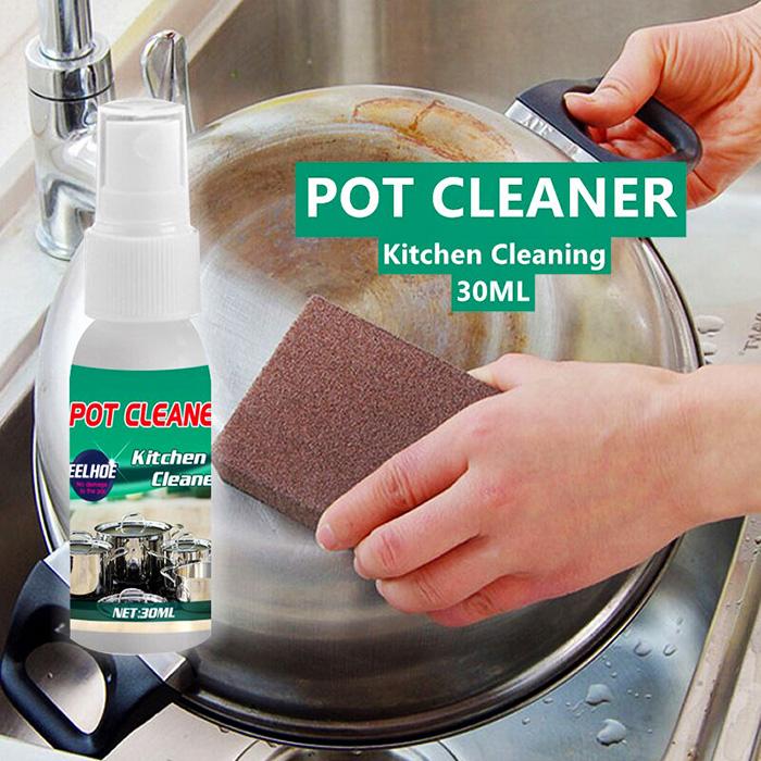 Подходит для любой металлической посуды, однако после очистки и перед использованием её необходимо промыть в тёплой воде – чтобы исключить попадание химических едких веществ в организм